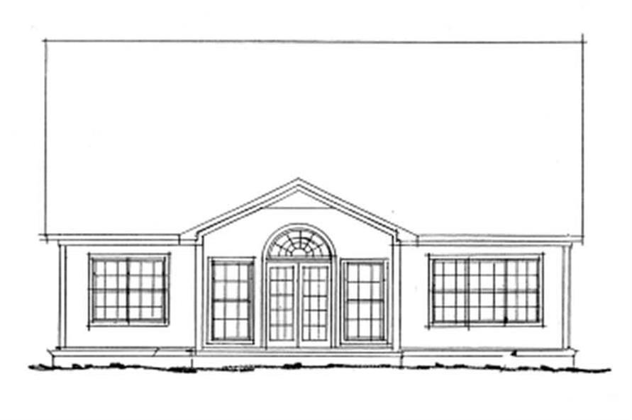 Home Plan Rear Elevation of this 3-Bedroom,1827 Sq Ft Plan -178-1116