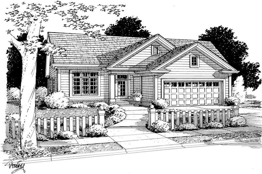3-Bedroom, 1827 Sq Ft Ranch Home Plan - 178-1116 - Main Exterior