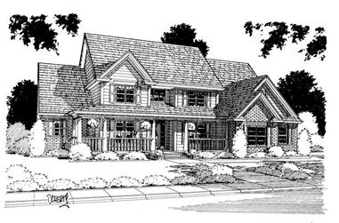 4-Bedroom, 3914 Sq Ft Country Home Plan - 178-1118 - Main Exterior