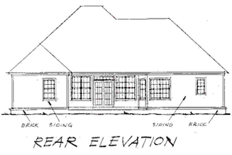 Home Plan Rear Elevation of this 4-Bedroom,2334 Sq Ft Plan -178-1120