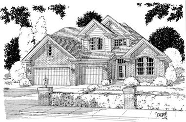 4-Bedroom, 2575 Sq Ft Traditional Home Plan - 178-1121 - Main Exterior