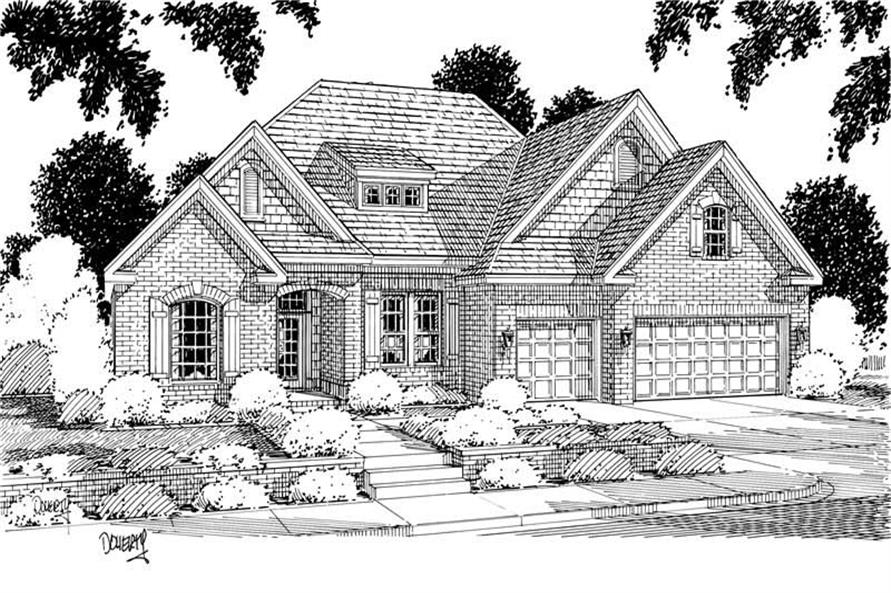 4-Bedroom, 2606 Sq Ft Traditional Home Plan - 178-1123 - Main Exterior