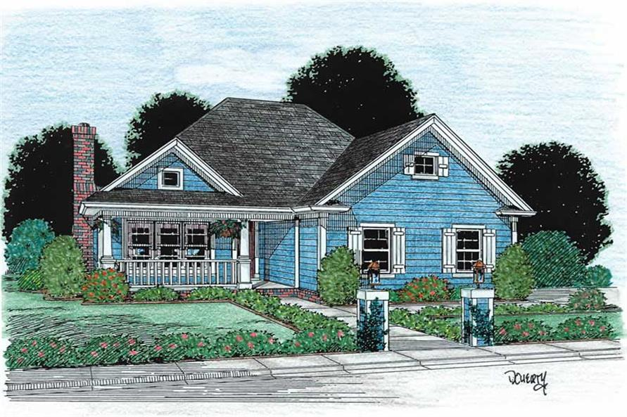 3-Bedroom, 1263 Sq Ft Small House Plans - 178-1125 - Main Exterior