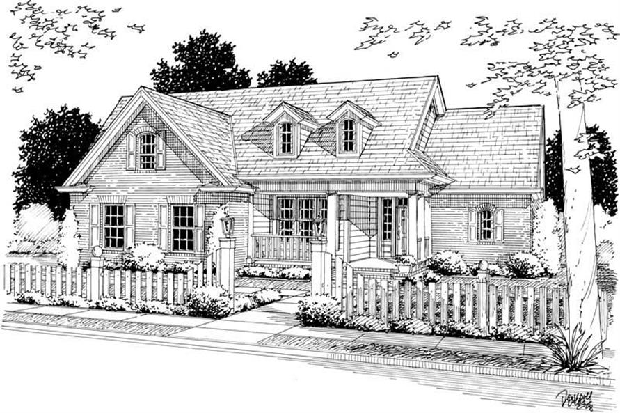 Front Elevation of this 3-Bedroom,2040 Sq Ft Plan -2040