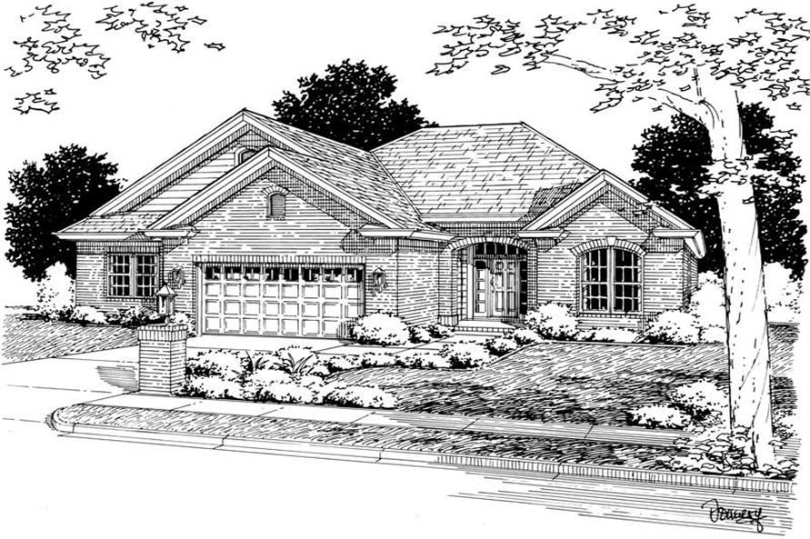 3-Bedroom, 1808 Sq Ft Ranch Home Plan - 178-1127 - Main Exterior