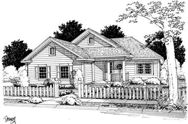 2-Bedroom, 1134 Sq Ft Small House Plans - 178-1128 - Main Exterior