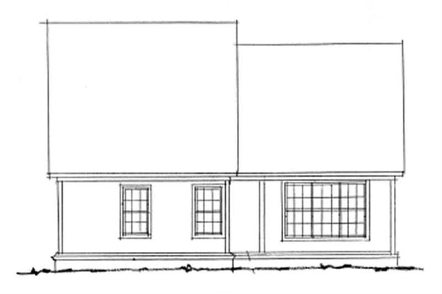Home Plan Rear Elevation of this 3-Bedroom,1565 Sq Ft Plan -178-1130