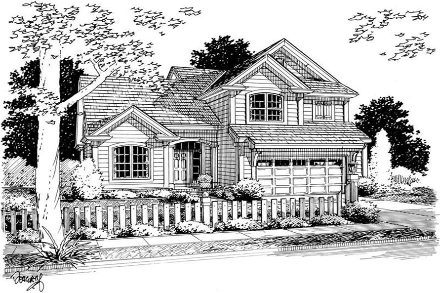 Home Plan Rendering of this 3-Bedroom,1565 Sq Ft Plan -178-1130