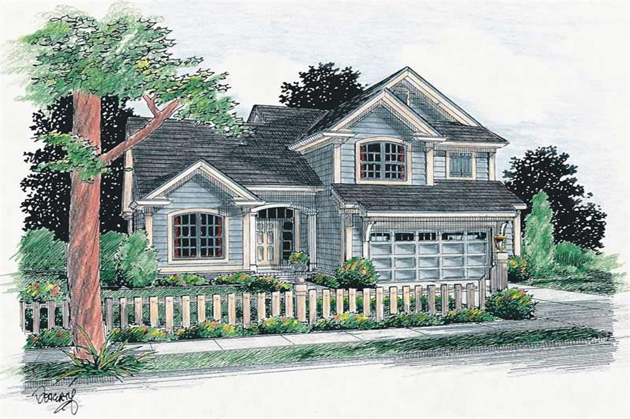 3-Bedroom, 1565 Sq Ft Small House Plans - 178-1130 - Main Exterior