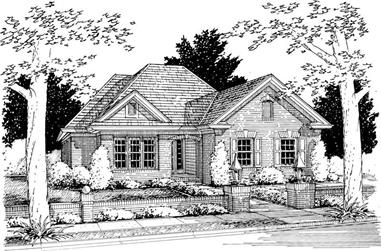 3-Bedroom, 1270 Sq Ft Small House Plans - 178-1131 - Main Exterior