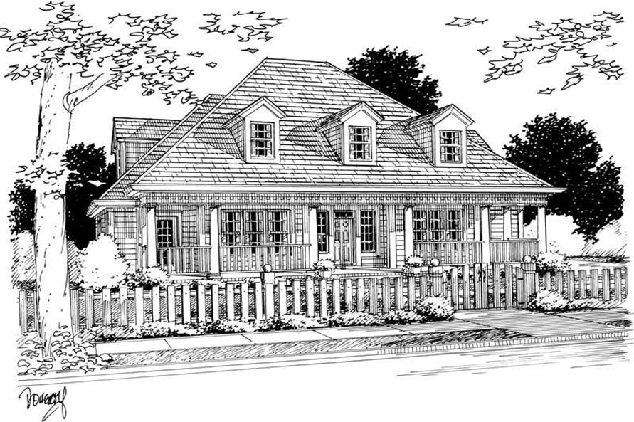 4-Bedroom, 2041 Sq Ft Country Home Plan - 178-1132 - Main Exterior