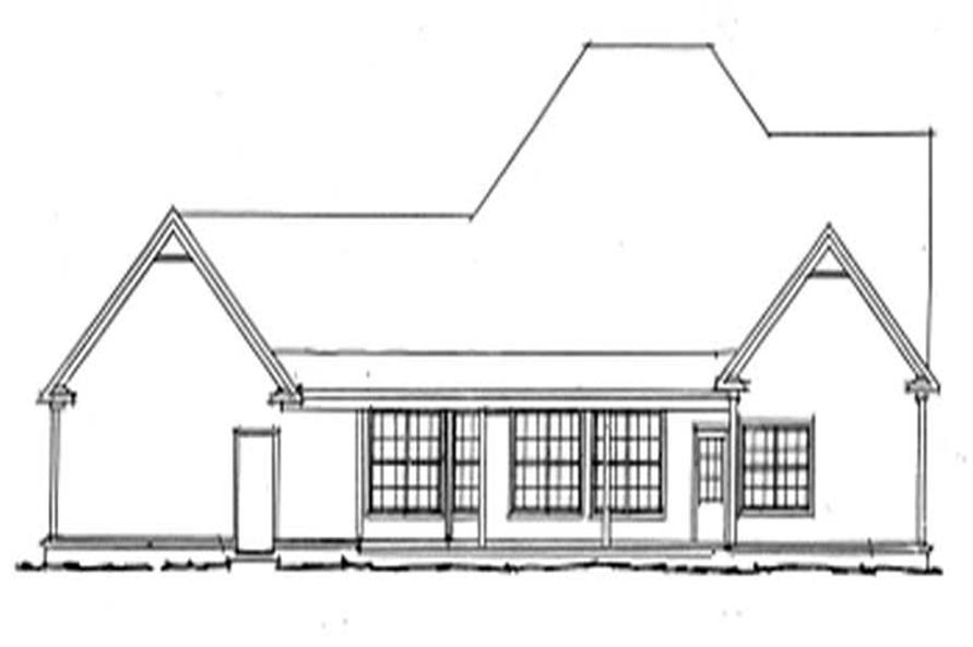 Home Plan Rear Elevation of this 4-Bedroom,2546 Sq Ft Plan -178-1133