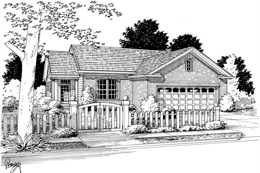 3-Bedroom, 1318 Sq Ft Small House Plans - 178-1135 - Main Exterior