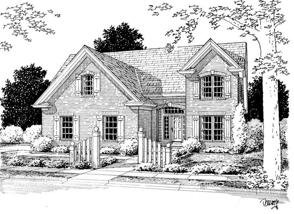 Front elevation of Country home (ThePlanCollection: House Plan #178-1137)