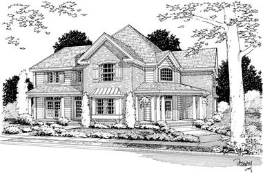 4-Bedroom, 3188 Sq Ft Country House Plan - 178-1139 - Front Exterior