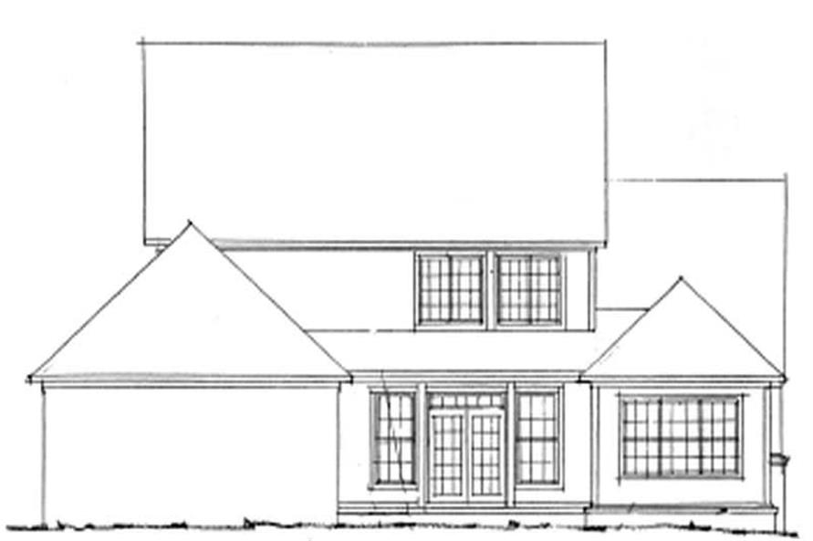 Home Plan Rear Elevation of this 4-Bedroom,3098 Sq Ft Plan -178-1140