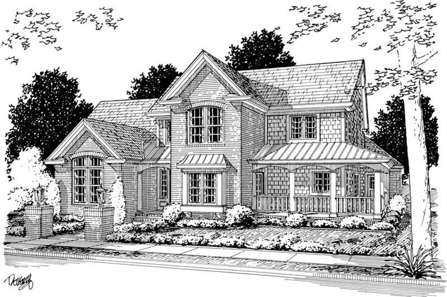 4-Bedroom, 3098 Sq Ft Country House Plan - 178-1140 - Front Exterior