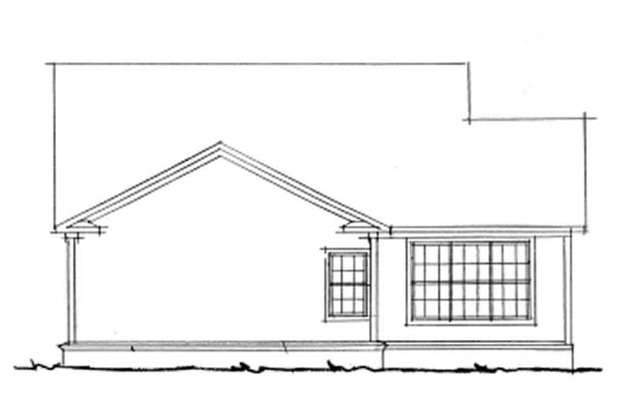 Home Plan Rear Elevation of this 3-Bedroom,1484 Sq Ft Plan -178-1141