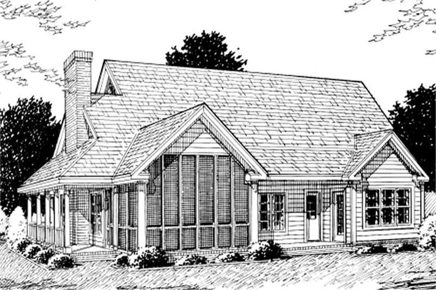 Home Plan Rear Elevation of this 3-Bedroom,2380 Sq Ft Plan -178-1142