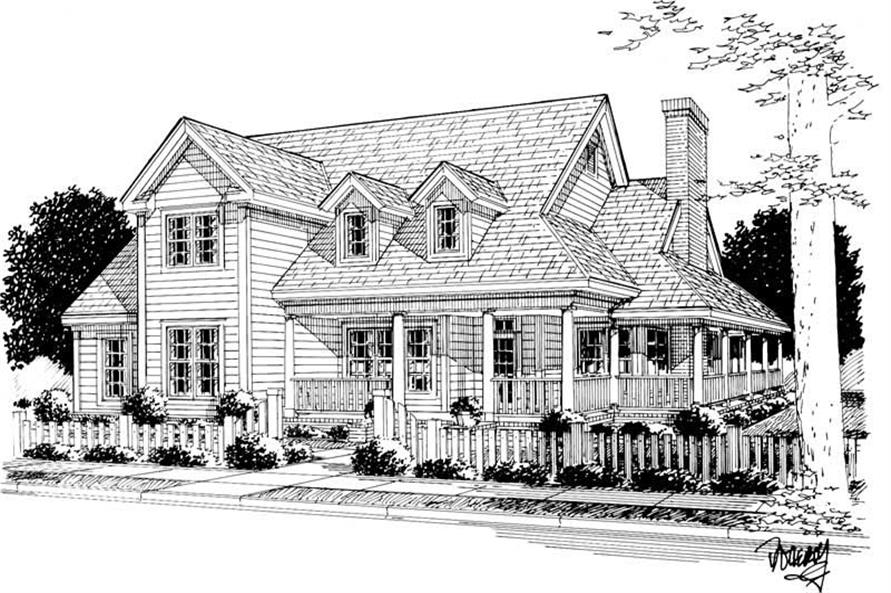 3-Bedroom, 2380 Sq Ft Country House Plan - 178-1142 - Front Exterior