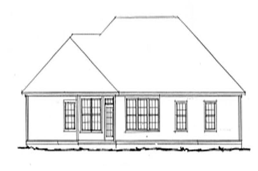 Home Plan Rear Elevation of this 4-Bedroom,2191 Sq Ft Plan -178-1143