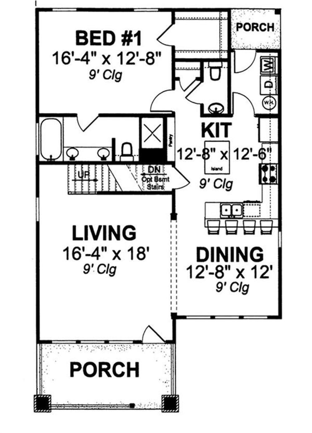 178-1144 house plan first floor