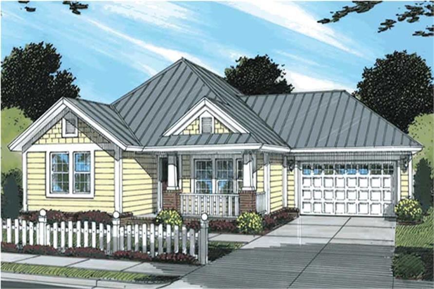 3-Bedroom, 1271 Sq Ft Country House Plan - 178-1145 - Front Exterior