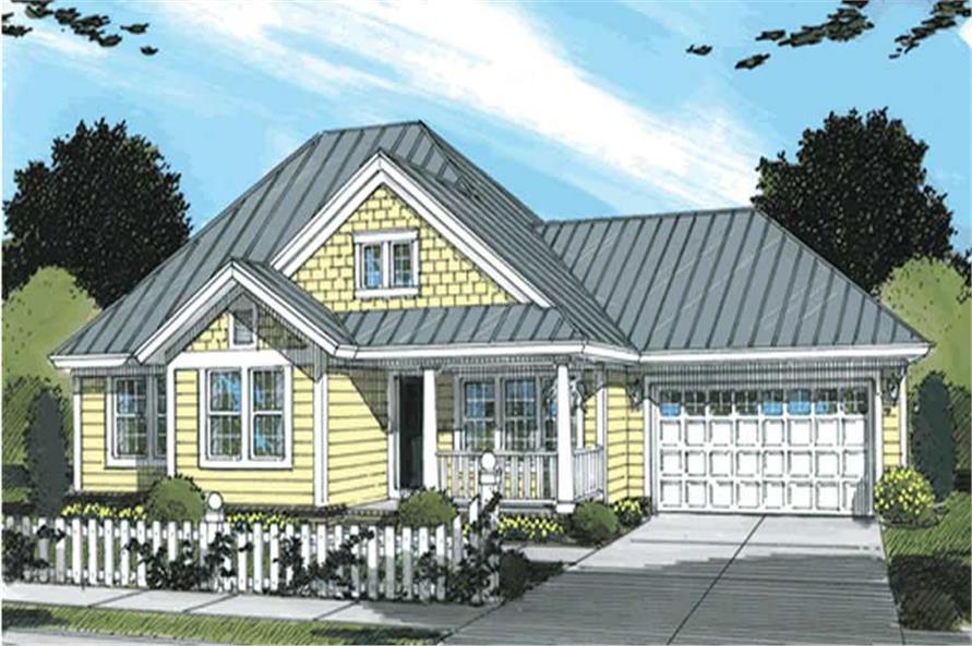3-Bedroom, 1286 Sq Ft Country House Plan - 178-1147 - Front Exterior