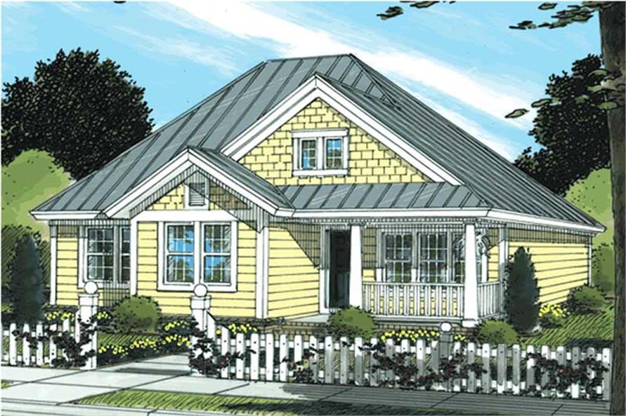 3-Bedroom, 1286 Sq Ft Country House Plan - 178-1148 - Front Exterior