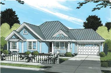 4-Bedroom, 1481 Sq Ft Country House Plan - 178-1149 - Front Exterior