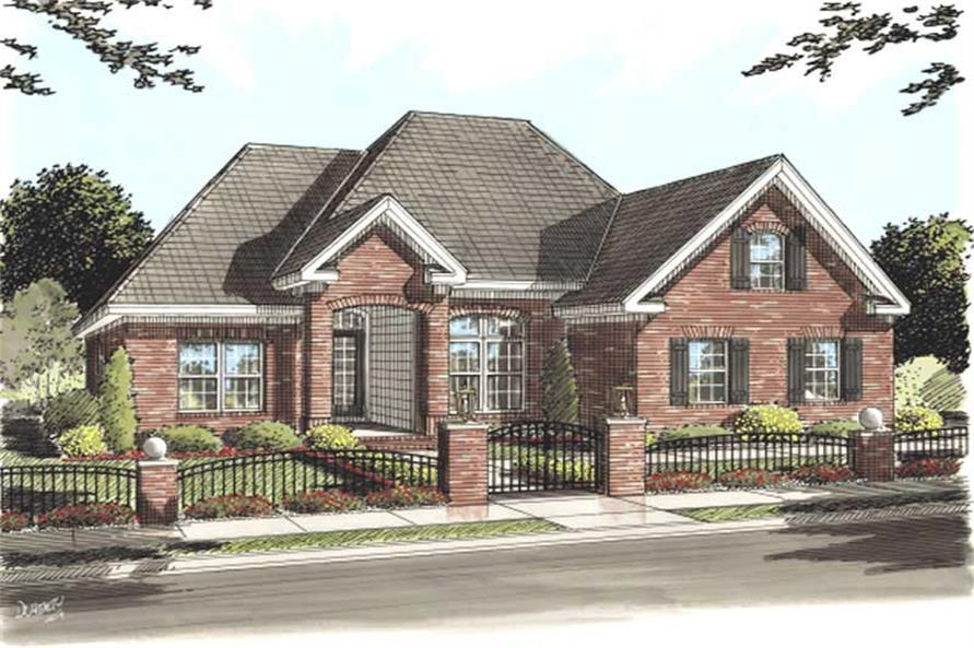 3-Bedroom, 1595 Sq Ft Ranch Home Plan - 178-1153 - Main Exterior