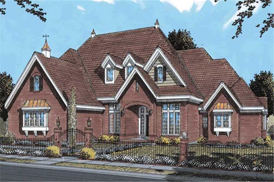 4-Bedroom, 4095 Sq Ft Traditional Home Plan - 178-1158 - Main Exterior