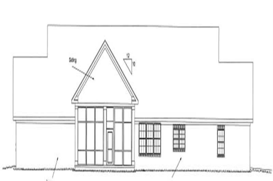 Home Plan Rear Elevation of this 4-Bedroom,3408 Sq Ft Plan -178-1159