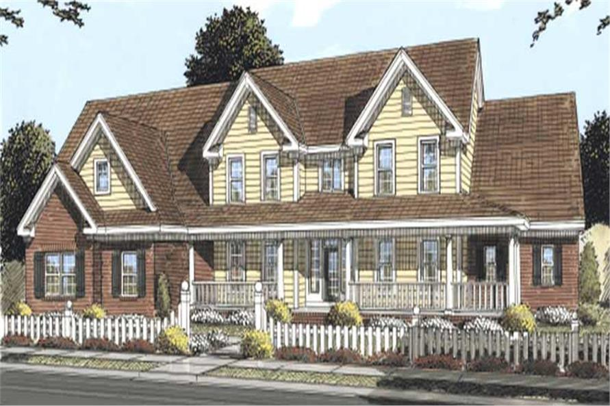 178 1162 this image shows the front elevation of these country house plans farmhouse house plans - 2 Story Country House Plans