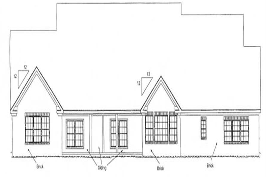 Home Plan Rear Elevation of this 4-Bedroom,4451 Sq Ft Plan -178-1162