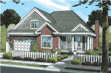 3-Bedroom, 1362 Sq Ft Country Home Plan - 178-1163 - Main Exterior