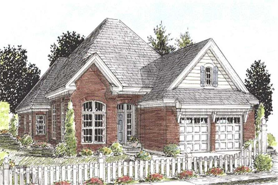3-Bedroom, 2116 Sq Ft Ranch House Plan - 178-1164 - Front Exterior