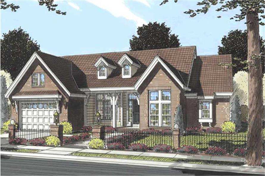 3-Bedroom, 2140 Sq Ft Cape Cod Home Plan - 178-1170 - Main Exterior