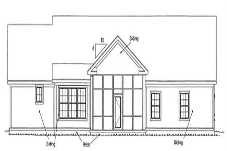 Home Plan Rear Elevation of this 3-Bedroom,2140 Sq Ft Plan -178-1170