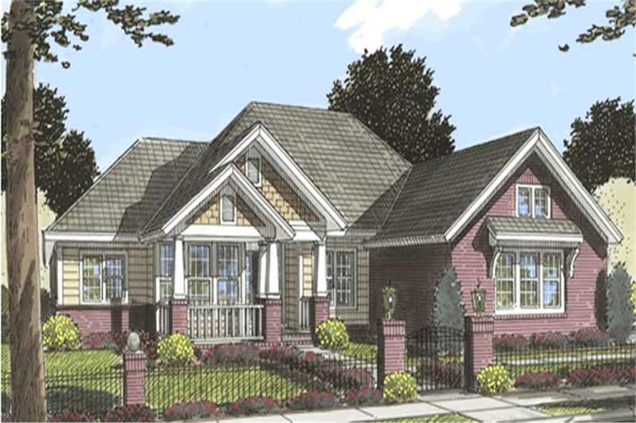 3-Bedroom, 2194 Sq Ft Country Home Plan - 178-1173 - Main Exterior