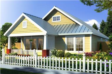 3-Bedroom, 1260 Sq Ft Country Home Plan - 178-1174 - Main Exterior