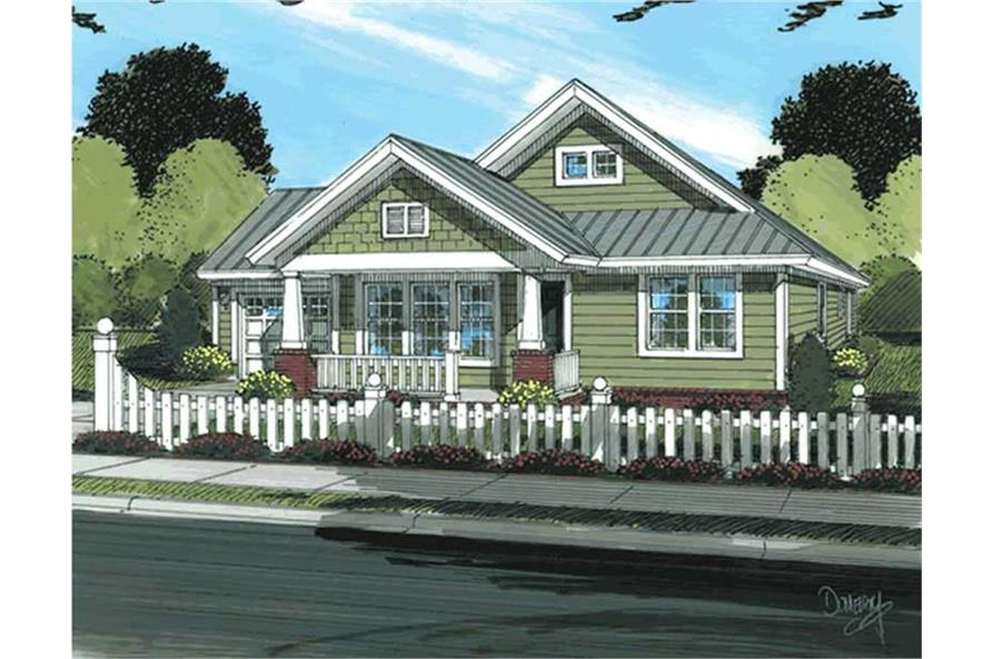 Home Plan Rendering of this 3-Bedroom,1260 Sq Ft Plan -1260