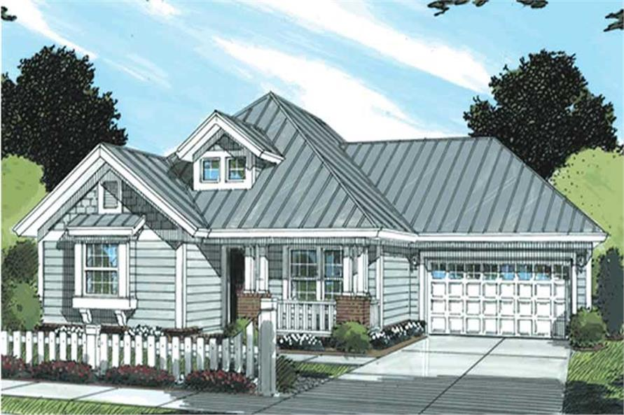 3-Bedroom, 1376 Sq Ft Country House Plan - 178-1177 - Front Exterior