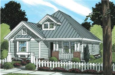 3-Bedroom, 1376 Sq Ft Cape Cod House Plan - 178-1178 - Front Exterior