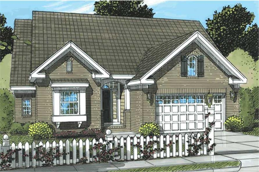 2-Bedroom, 1645 Sq Ft Ranch Home Plan - 178-1180 - Main Exterior