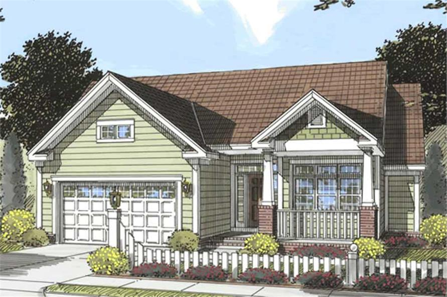 3-Bedroom, 1812 Sq Ft Country Home Plan - 178-1182 - Main Exterior