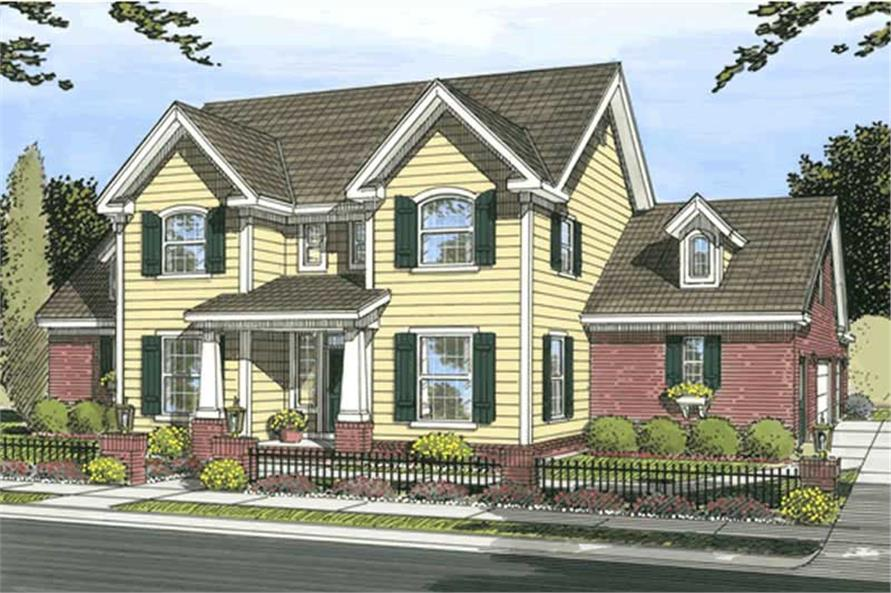 3-Bedroom, 2334 Sq Ft Country Home Plan - 178-1186 - Main Exterior