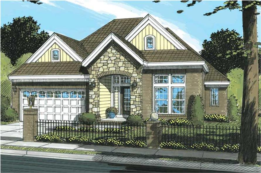 3-Bedroom, 1732 Sq Ft Ranch Home Plan - 178-1189 - Main Exterior