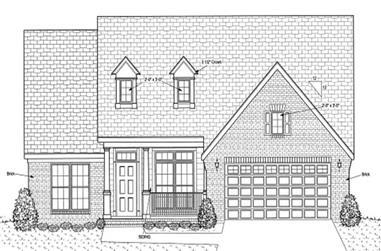 3-Bedroom, 1812 Sq Ft Cape Cod Home Plan - 178-1190 - Main Exterior