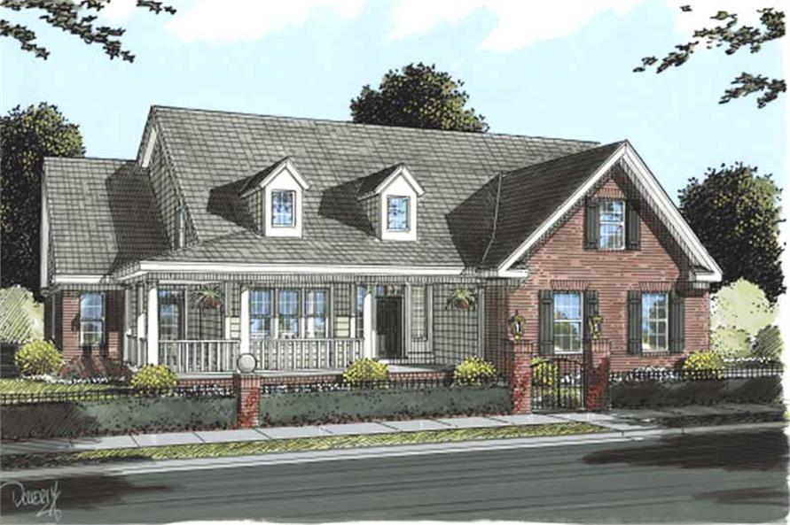 5-Bedroom, 3382 Sq Ft Cape Cod Home Plan - 178-1191 - Main Exterior
